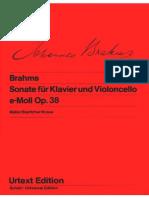 Brahms Cello and Piano Sonata 1 Wiener Urtext