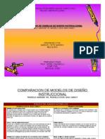 Comparacion de Modelos de Diseno Instruccional