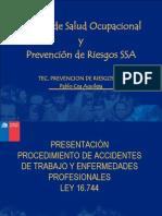 Taller de Procedimientos de Accidentes Del Trabajo 2013