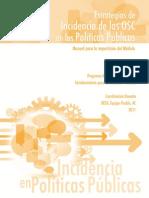 Estrategias  de Incidencia de las OSC en la Políticas Públicas