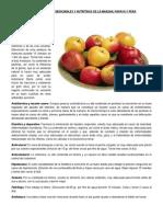 Propiedades Medicinales y Nutritivas de Algunas Frutas