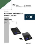 Instrucciones Balanza Kern Tab20