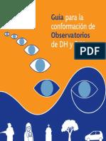 Guía conformación observatorios DDHH-DIH