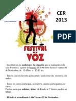 Afiche Festival 2013