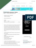 Prueba Nuestro Patrimonio 2° Básico - Documentos de Investigación - Sandravit