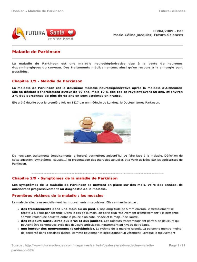 865 Maladie Parkinson 3d7d495