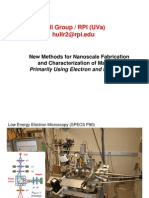 New Methods for Nanoscale Fabrication and Characterization of Materials Primarily Using Electron and Ion beams