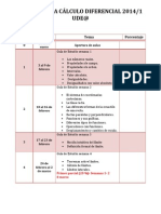 Cronograma 2014-1 Cálculo Diferencial