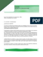 2.1 Las Cuentas Conceptos Basicos