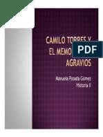 Unidad 3 Camilo Torres y el Memorial de Agravios - Manuela Posada Gómez