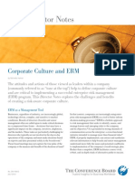 Corporate Culture and ERM