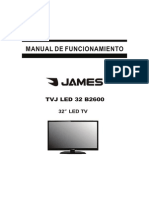 Manual Televisor James TVJ LED 32 B2600