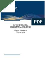 Informe Mensual de Coyuntura Económica febrero 2014 Costa Rica
