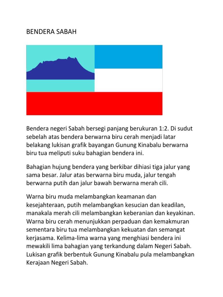 Sabah Flag For Sivik Form 4