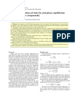 A non-cubic equation of state for PVT and phase equilibrium calculation (pure compounds)