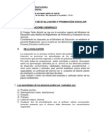 Reglamento Evaluacion v. 2014