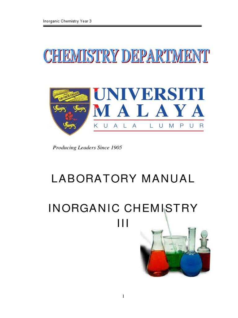 Lab Manual Yr 3 Inorganic Electron Paramagnetic Resonance