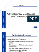 IT222 Unit 10 Active Directory Maintenance