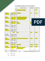 Revisi Jadwal Ujian Akhir Semester Tahun 2013 Rombel 2