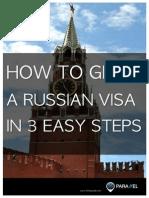 Russian Visa in 3 Easy Steps eBook