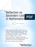Literacy in Math Reflection
