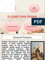 elizabethan drama Students often ask me what exactly is elizabethan theatre i am convinced part of the confusion lies with the title, itself is elizabethan theatre an historical period, just shakespeare's plays, a theatre style, or all of the above.