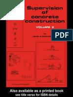 3393 - Supervision of Concrete Construction Volume 2