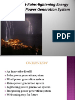 Solar-Wind-Rains-Lightening Energy Integrating Power Generation System