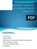 Wireless Power Transmission Through Sps (Solar Power Satellite)