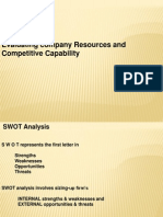 Internal Analysis SWOT