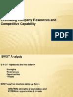 Internal Analysis SWOT