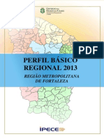 OK - IPECE - Perfil Regional RMF Fortaleza 2013