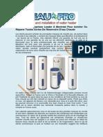 Meilleure Reservoir Eau Chaude | L'eau Pro
