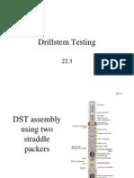 Drillstem Testing