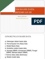 DataBase Pertemuan III