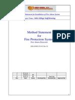 FA Detector Method Statemenet Installation