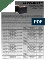 Información tecnica Batería UPS12-540MR