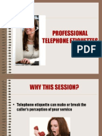 Telephone Etiquettes