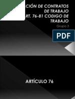 TERMINACIÓN DE CONTRATOS DE TRABAJO