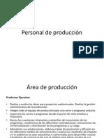 Personal de producción