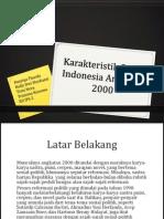Tugas Karakteristik Sastra Indonesia