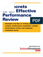 Reports EffectivePerformance Review