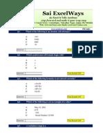 ExcelWays MS-Excel MCQ Set 1
