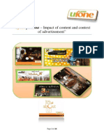Ufone persona – Impact of content and context of advertisement