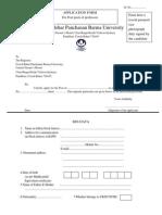 Application for Post of Professor