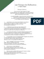 Les 37 Pratiques Des Bodhisattvas Trad Ch.charrier Editions Vajra Yogini