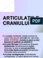 Articulatiile craniului