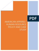 American Apparel- Human Resources Policy and Case Study