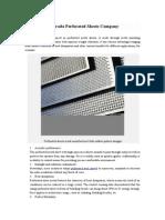 Forada Perforated Sheets Company