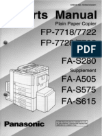 Panasonic FP-7728 Parts Manual